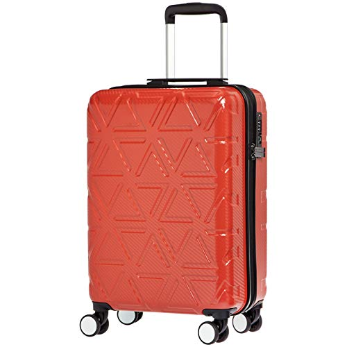 AmazonBasics - Trolley rigido Pyramid, 55 cm, Rosso