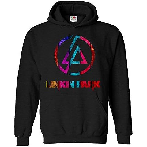 """Felpa Unisex """"Linkin Park"""" - Multicolor - Felpa con cappuccio rock band LaMAGLIERIA"""