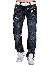 Kosmo Lupo K&M 322D Designer Jeans Homme Cargo Black Bleu Style Clubwear Pantalon W29-W38 / L32-L34, taille:W31 / L32 T.41