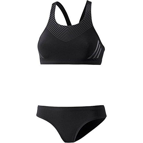 adidas Damen Regular Training Pool Placed Print Bikini, Black/Carbon/Night Metallic, 42 Preisvergleich
