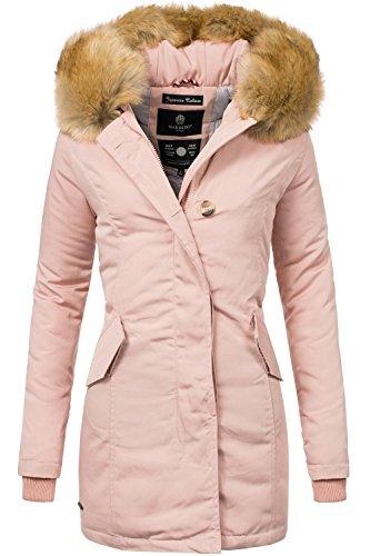 Marikoo Damen Winter Mantel Winterparka Karmaa XS-XXXXXL (vegan Hergestellt) Rosa Gr. S