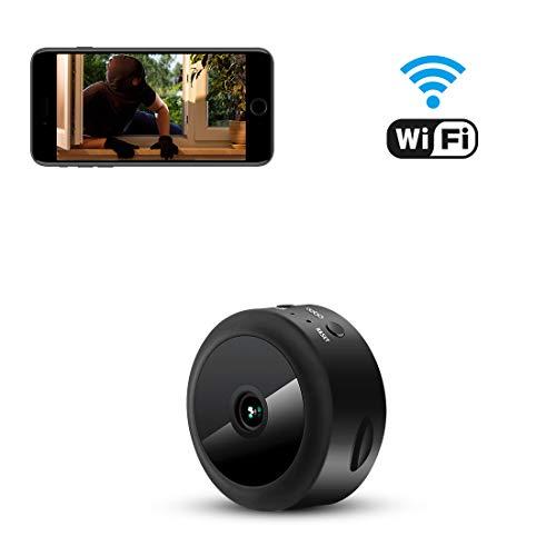 Nascosta Telecamera Spia AOBO 1080P HD Mini Microcamere WiFi IP Wireless Rilevamento di Movimento Portatile Videocamera di Sorveglianza Video Registrazione in Loop con Case Auto Ufficio