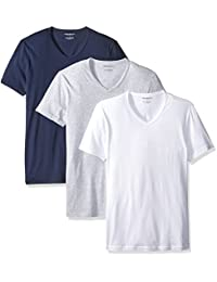 Emporio Armani Men's 3-Pack Regular Fit V-Neck T-Shirt