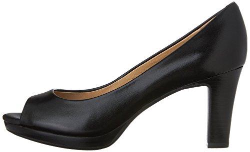 Geox D LANA A, Damen Peep-Toe Pumps, Schwarz (BLACKC9999), 40 EU -