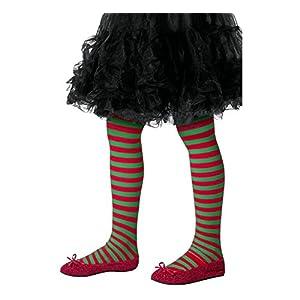 Smiffys Medias a rayas, niños, rojo y verde, M a L - Edad 8-12 años (48329) 7