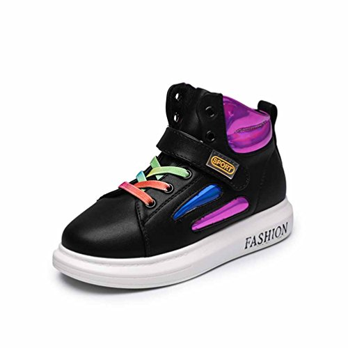 Qianliuk Unisex Kids Casual Shoes High Top Wasserdicht Anti-Slip Mode Outdoor Road Running Turnschuhe (Kleinkind/Little Kid/Big Kid)