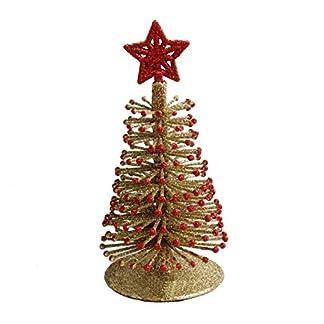Kongqiabona El árbol de Navidad Decorado con Polvo Tridimensional de pequeños árboles Decoración de Navidad Artículos de decoración