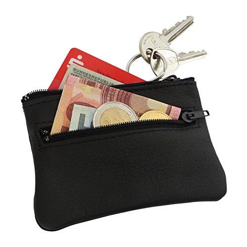 Hochwertiges Schlüsseletui - Damen & Herren - 5 Jahre Garantie - Schlüsseltasche aus feinstem Leder - 2 Fächer - Premium Qualität MADE IN GERMANY - 100 Tage Geld zurück Garantie