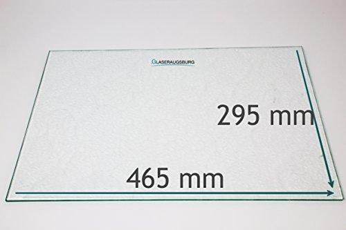 Kühlschrank Einlegeboden/Glasplatte / Gemüsefach – Strukturglas 4 mm dick – 465 mm x 295 mm - Direkt vom Glasereifachbetrieb!!!
