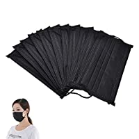 Brussels08 10Pcs Non Woven Disposable Face Mouth Masks Anti-Dust Surgical Medical Mask Elastic Earloops Dust Bacteria Filter Mouth Cover Mouth-Muffle For Men Women Kids Teens Black