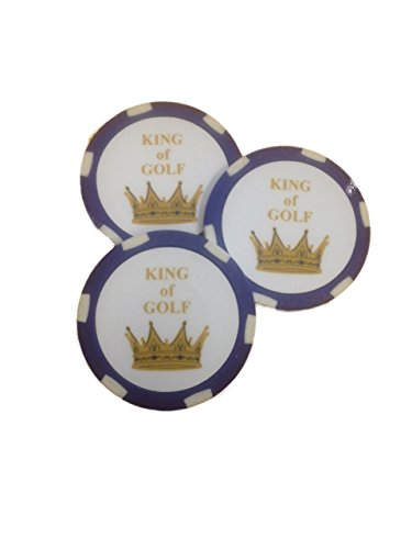 (CEBEGO Golf Ballmarker KING OF GOLF im Roulettedesign,Roulettemarker Golf,Ballmarkierungswerkzeuge, Golfgeschenkartikel)