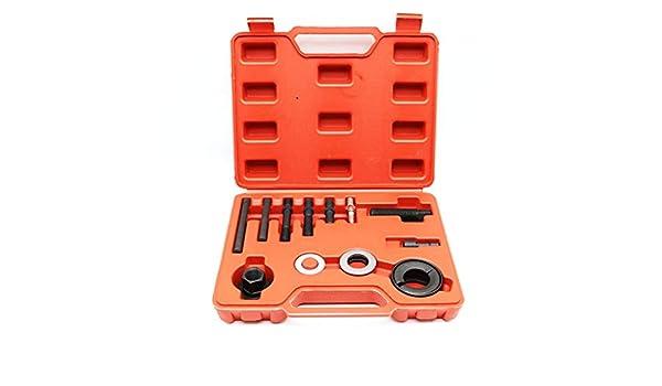 Barlingrock 13PC Alternator Pulley Herramienta de eliminaci/ón Compatible para GM Ford Engine Power Steering Puller Kit