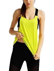 Mujer Camiseta Deportiva Sin Mangas, Tank Top de Running, Yoga