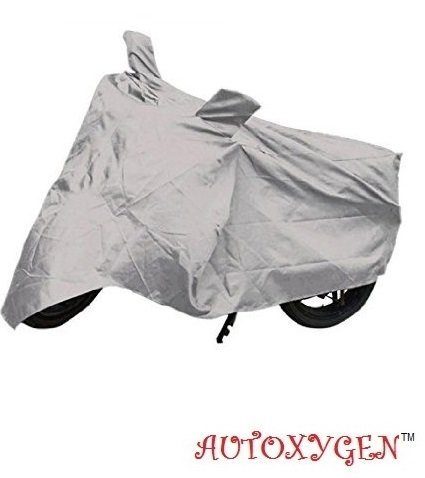 AUTOXYGEN Bike Silver Dust Proof Water Resistant Double Mirror Pocket Body Cover for Royal Enfield Standard Bullet 350/500