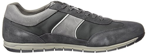 Geox U Active A, Low-Top Chaussures homme Dk grn/dk gry