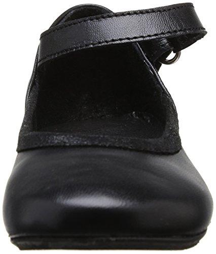 Yep Aceline Mädchen Ballerinas Noir (Cuir/Croute Lam Noir)