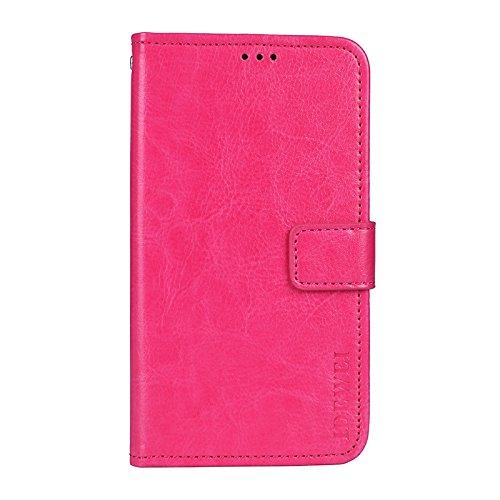 COVO® Doogee Mix Lite Brieftasche Hülle PU+TPU Kunstleder Handyfall für Doogee Mix Lite mit Stand Funktion Ein Stent-Funktion (Rose Rot)