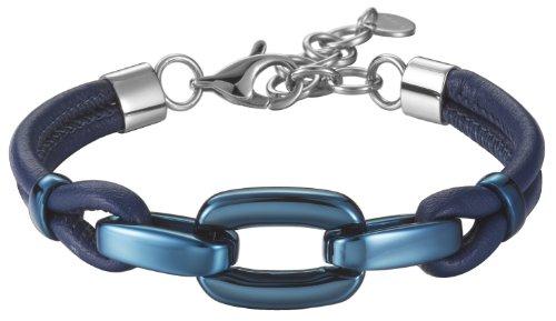 Esprit Damen Armband Edelstahl rhodiniert Kunststoff Marin blue 18 cm ESBR11609C170