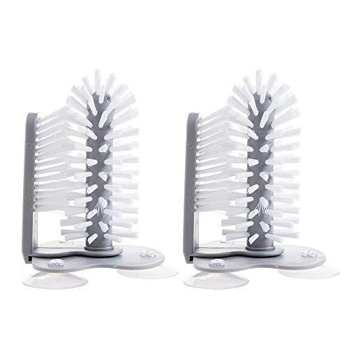 HSRG Kreative Wand-Montiert 2 In 1 Tasse Pinsel Glas Reinigungsbürste Einfache Roller Teetasse Innerhalb Außerhalb Cleaing Pinsel Küche Werkzeug, 2 Pack