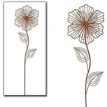 Gartenstecker rostoptik gartendeko gro metall blume for Gartendeko rostoptik