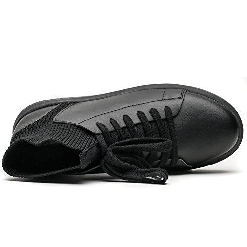 Gomnear Scarpe da corsa Uomini leggero Scivolare su traspirante Casuale Inverno All'aperto Moda Scarpe da ginnastica Nero