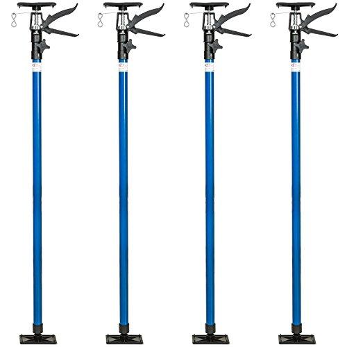 TecTake PUNTAL EXPANSION TELESCÓPICO REFORZADO SOPORTE PARA TECHO 115-290 cm - varios modelos - (4x Azul | no. 402400)