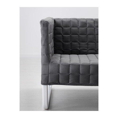 "IKEA Sofa ""Knopparp"" 2-er Sofa – Bezug abnehmbar und maschinenwaschbar – BxTxH: 119x76x70 cm (grau)"