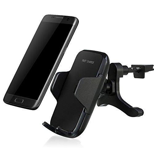docooler Qi KFZ SCHNELL Wireless Ladegerät Air Vent Auto Halterung Fahrzeug Dock Laden Ständer Handy aufladen Halterung für Samsung Galaxy S8/S8+ S7Edge/S6Edge +/Note und andere Qi Smartphones (Air-vent-mount)