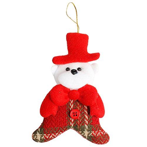 (Yearnly Weihnachtsdekoration Anhänger Weihnachten Party Geschenke Home Decor Ornament Wandaufkleber Weihnachten vlies Weihnachtsmann anhänger)