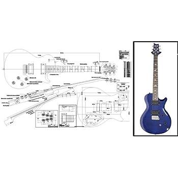 Plan of Gibson Les Paul Jr  Double-Cutaway Electric Guitar