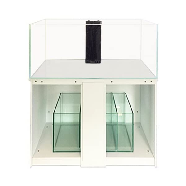 All Pond Solutions 350L & 460L Ultra Clear Glass Marine Aquarium Fish Tank, Sump & Cabinet