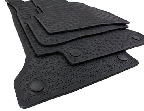 kfzpremiumteile24 Gummimatten Original Qualität Fußmatten Gummi schwarz 4-teilig (Mercedes E-klasse Fußmatte)