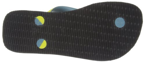 Havaianas Top Mix Kids, Tongs garçon Noir / Jaune 0522
