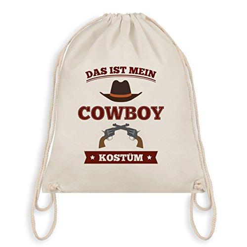 Karneval & Fasching - Das ist mein Cowboy Kostüm - Turnbeutel I Gym Bag Naturweiß