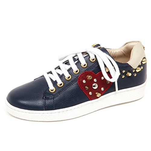 E1442 Sneaker Bimba Blu Twin-Set Simona BARBIERI Scarpe Borchie Shoe Kid Girl [32]