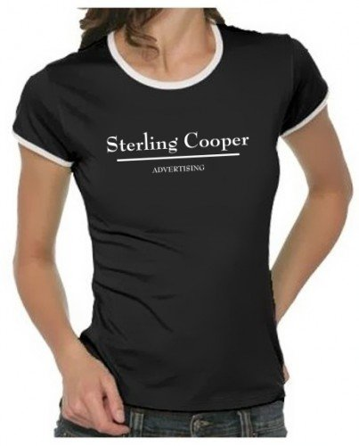 STERLING ADVERTISING Mad Men - Girly Ringer black, sz.L