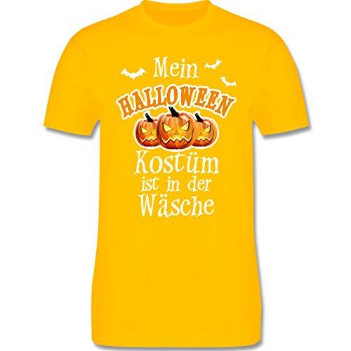Halloween - Mein Halloween Kostüm ist in der Wäsche - XXL - Gelb - L190 - Herren T-Shirt Rundhals