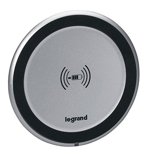 Legrand, Qi-Wireless Charger; induktives Einbau-Ladegerät zur Montage in Möbeln für z.B. iPhone8, iPhone 8 PLUS, Samsung Galaxy S8 und alle Qi-Standard fähigen Smartphones , 077580