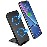Wireless Charger, DesertWest Wireless Ladestation für iPhone XS MAX/XR/XS/X/8/8 Plus, Qi Kabelloses Induktive Ladegerät für Galaxy Note 9/S9/S9 Plus/Note 8/S8/S8 Plus/S7/S7 Edge/S6 Edge/S6/Note 5