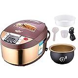 Cuociriso Fornello di riso intelligente 3.0L, fornello di riso multifunzionale con cesto di vapore, vaso interno antiaderente di aggiornamento, adatto per 2-3 persone - per cucinare zuppa, riso, stufa