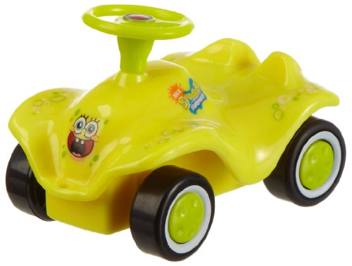 Big Daddy BIG 56964 Bobby car - Mini coche de Bob Esponja: diseño de Bob (color amarillo) o Patricio (color rosa)