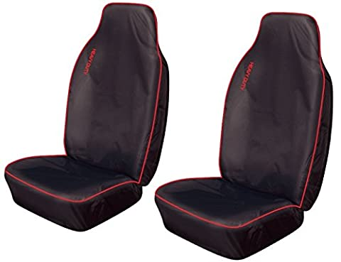 XtremeAuto® XA_cabrio_redHD1 Heavy Duty, Red / Black, Waterproof Seat Covers