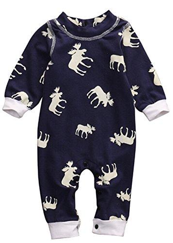 QTONGZHUANG One-Piece Pyjamas_Amazon Explosion Baby Junge Mädchen Weihnachten Einteilige Pyjamas, 70cm