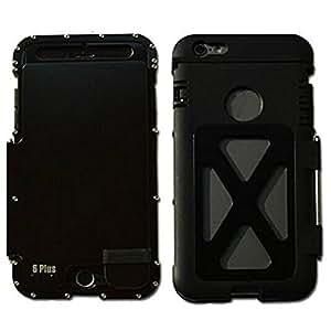 r-just 360Armor King Iron Man Cool de luxe en métal coque en aluminium pour Apple iPhone 6Plus/6S Plus 5,5Noir
