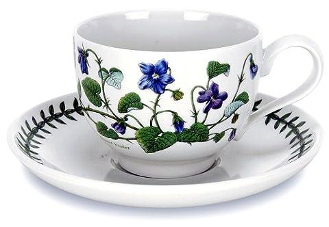 Portmeirion Botanic Garden Teacup And Saucer 2 7oz - Set of 6