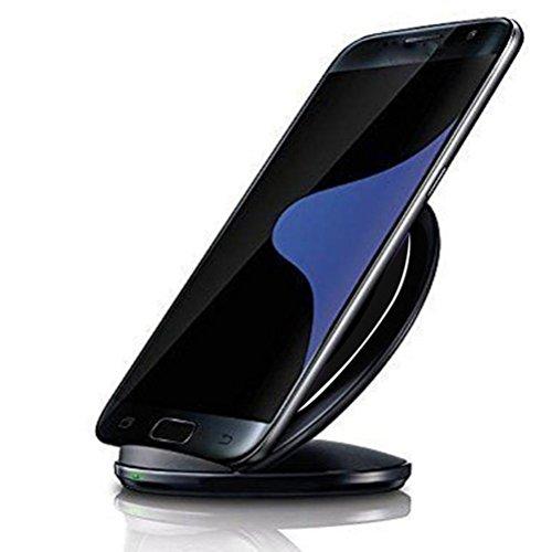 Samsung Galaxy S7   S7 Edge Xinantime 3-bobinas cargador inal  mbrico Qi  Negro