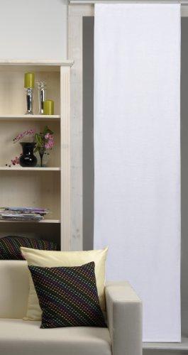 Preisvergleich Produktbild Schiebegardine Schiebevorhang Franziska lichtdurchlässig ca.60x245 cm Flächenvorhang Vorhang Gardine #286 (weiß)