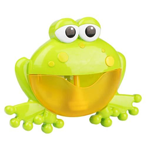 TIMLand Bubble Machine für Baby Kids, Cute Frog Crab Bath Bubble Gebläse Durable Automatische Bubble Making Spielzeug mit Musiklied - Frosch -