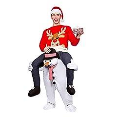 Idea Regalo - Costumi gonfiabili Costume da Mascotte di Natale Giro su di Me Abiti Abito Animale per Adulti e Bambini Costume di Babbo Natale con Molti Stili e Animali