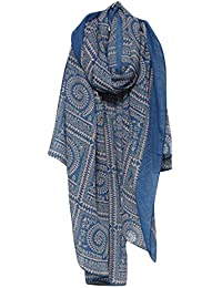 TOOGOO(R)Autumn and winter Women Long Lady Vintage Soft Printed Scarves Shawl Wrap Scarf (Blue)